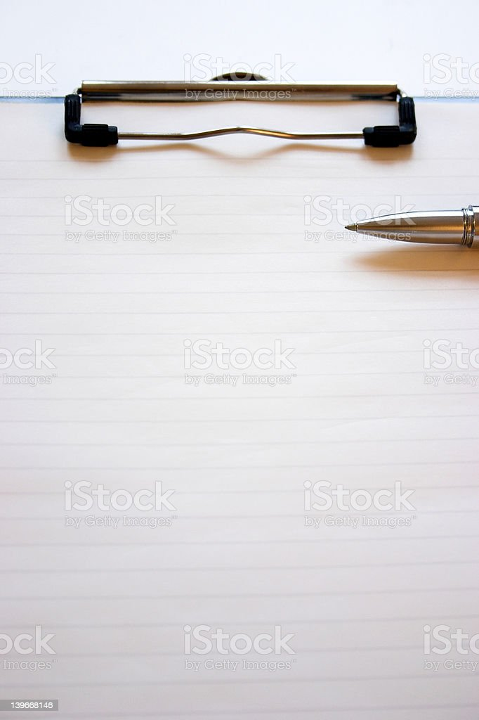 Clipboard & pen royalty-free stock photo