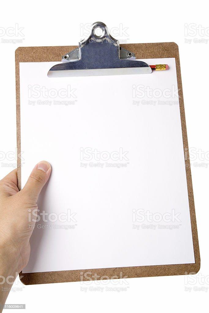 Clipboard royalty-free stock photo