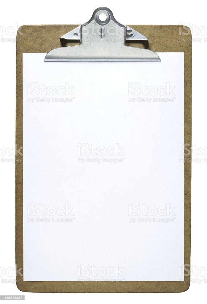 Clipboard stock photo