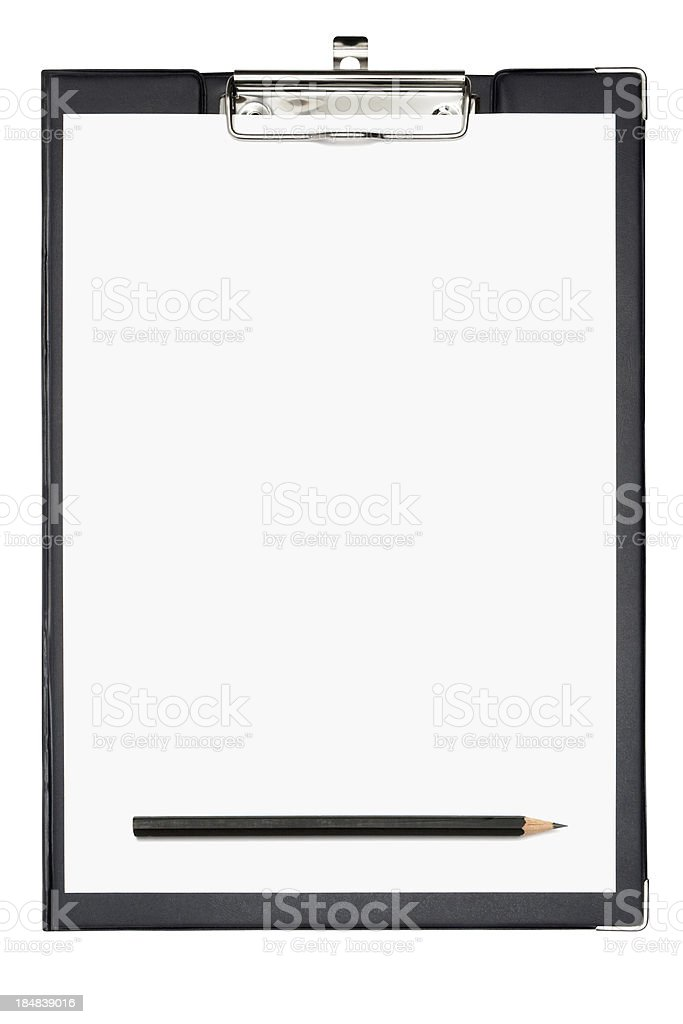 Clipboard (Clipping Path Included) royalty-free stock photo