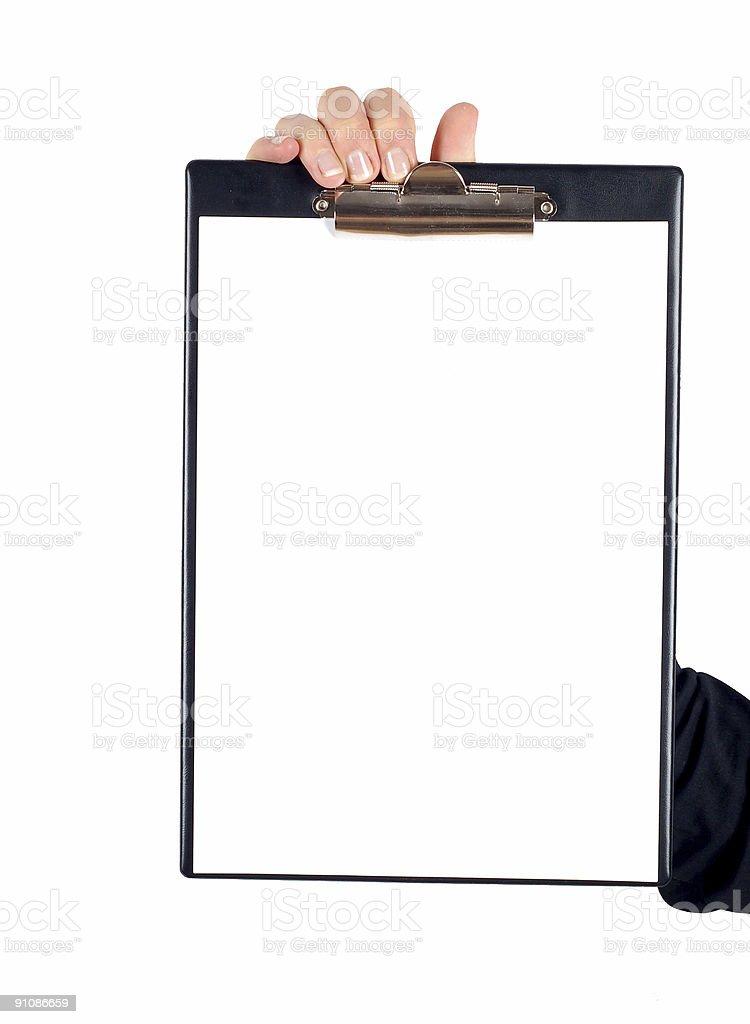 clipboard #4 royalty-free stock photo