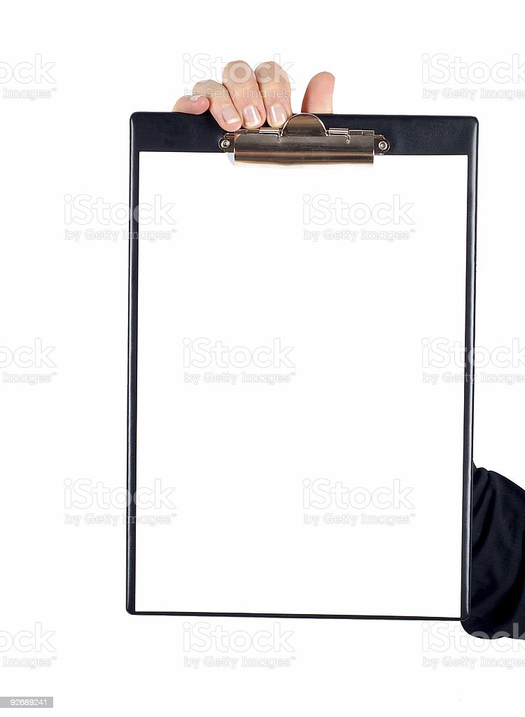 clipboard #7 royalty-free stock photo