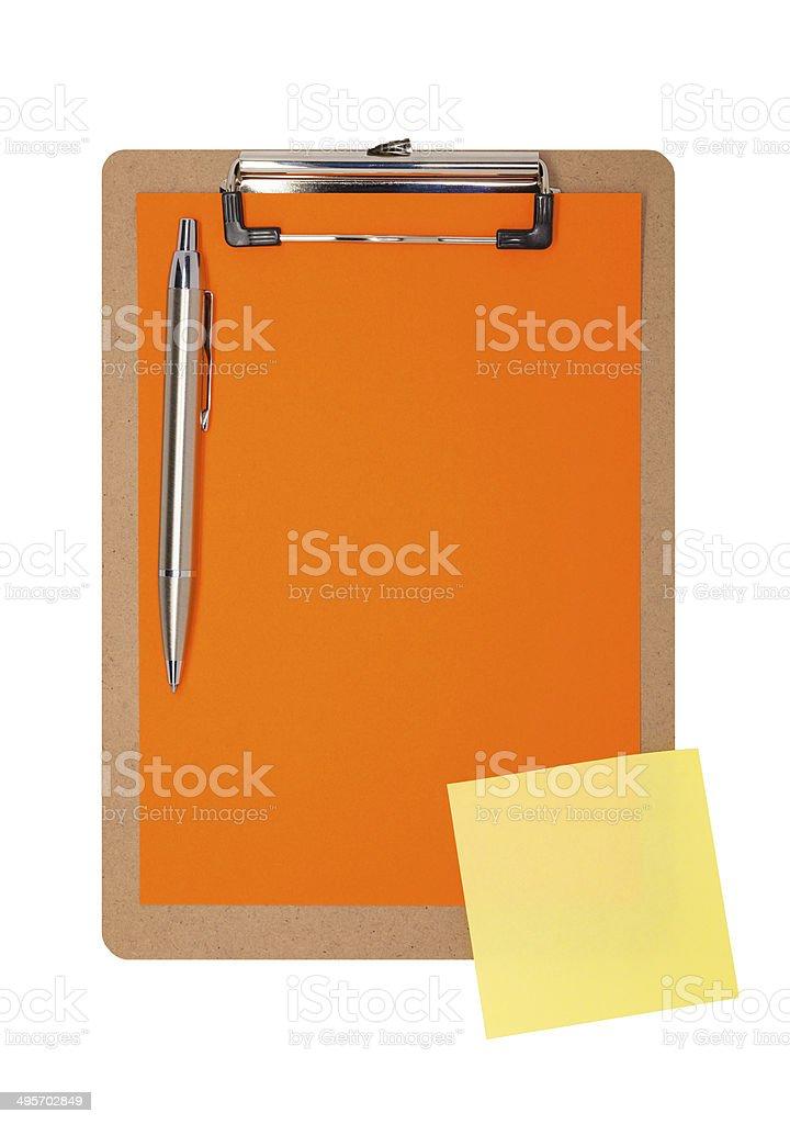 Área de transferência de laranja simples foto royalty-free