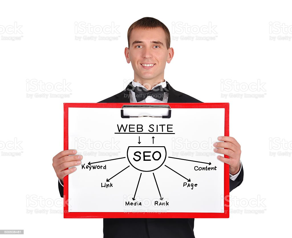 clipboard with seo royalty-free stock photo