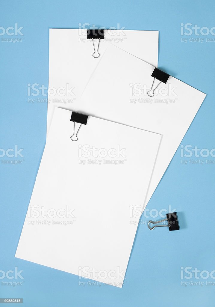 clipboard with squared paper stock photo