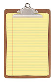 Clipboard with Yellow Legal Paper (with path)