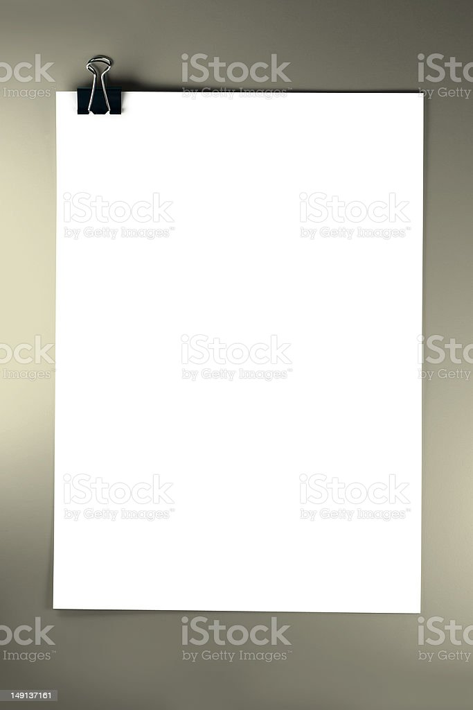 Cliped Blank Papers royalty-free stock photo