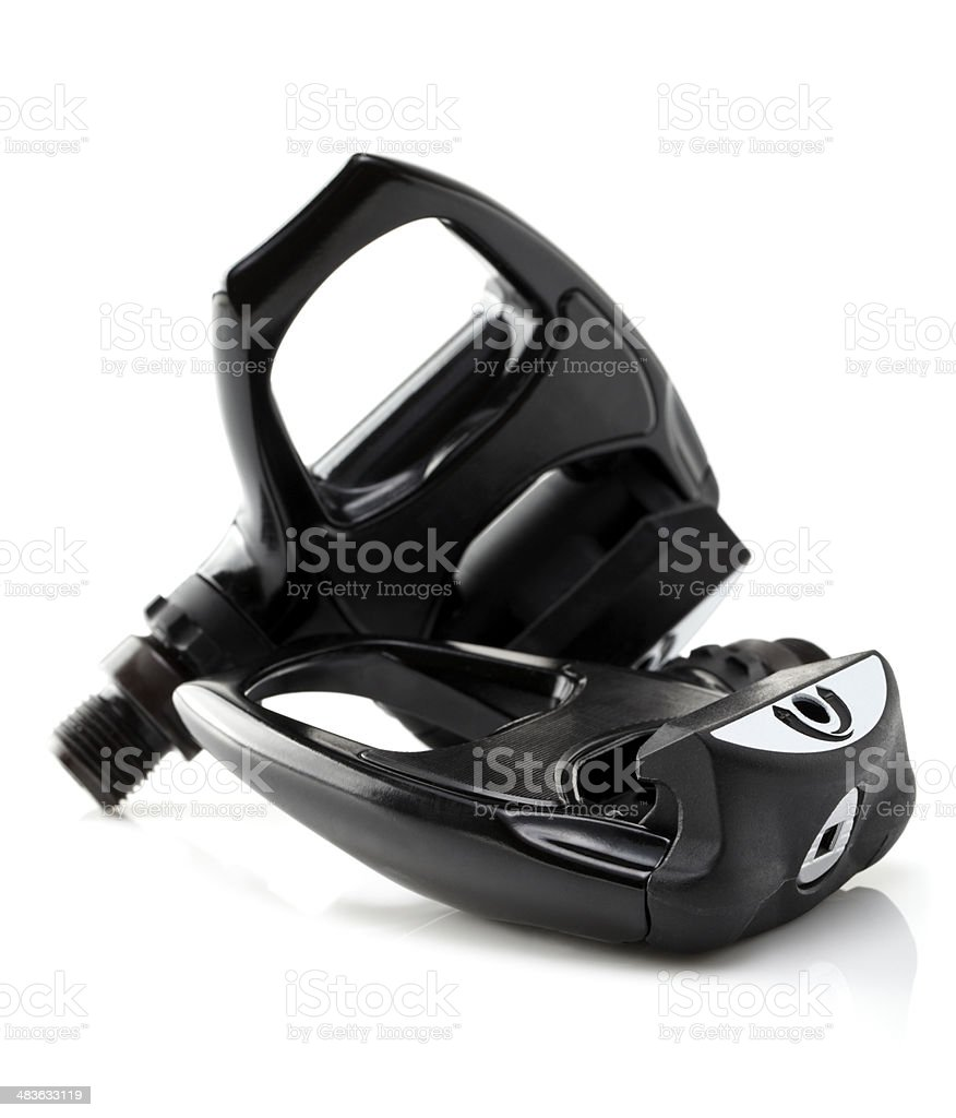 Clipless Pedals on white background. royalty-free stock photo