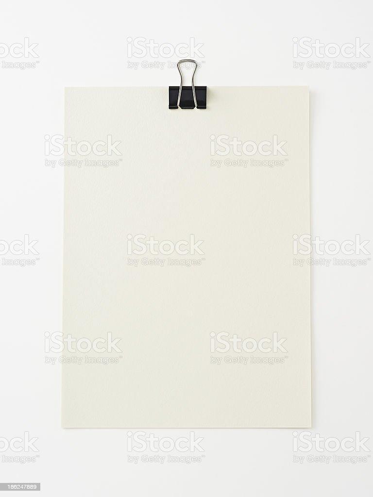 Pacer leere Papier auf weiß background.Clipping Pfad enthalten. Lizenzfreies stock-foto