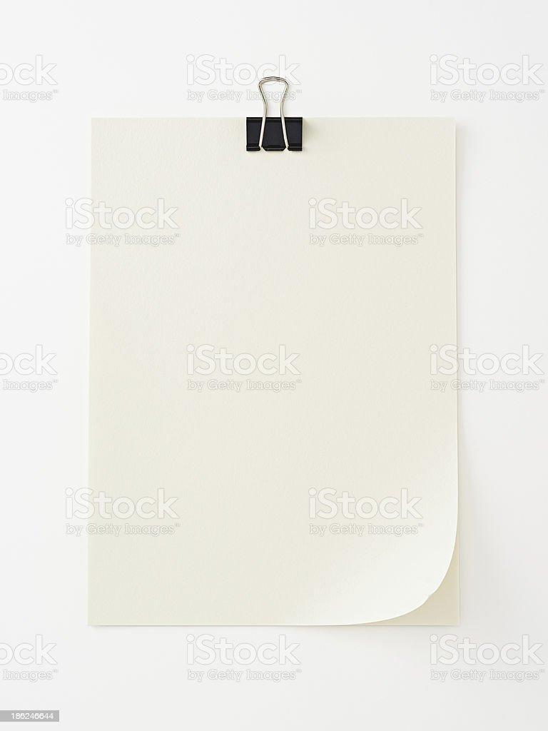 Pacer leere Papiere auf weiss background.Clipping Pfad enthalten. Lizenzfreies stock-foto