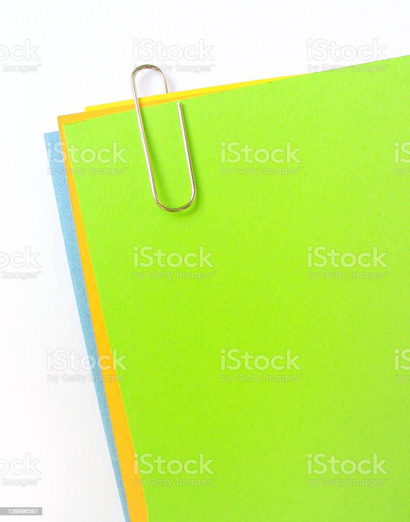 clipped paper stock photo