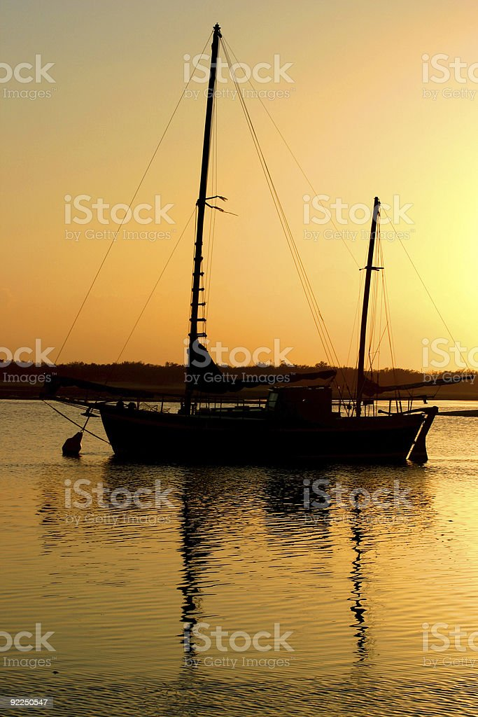 Clipper After Dawn stock photo