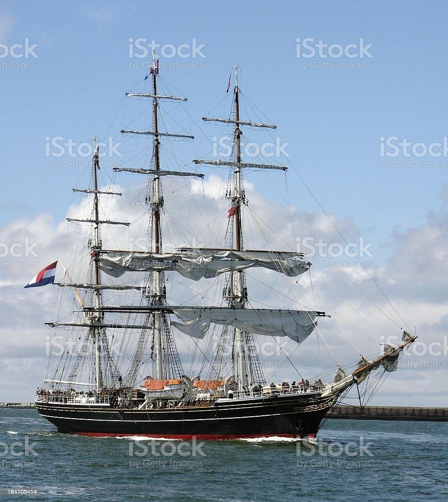 Clipper ship royalty-free stock photo