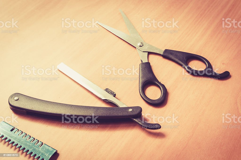 Clippers barber professional tool for cutting stock photo