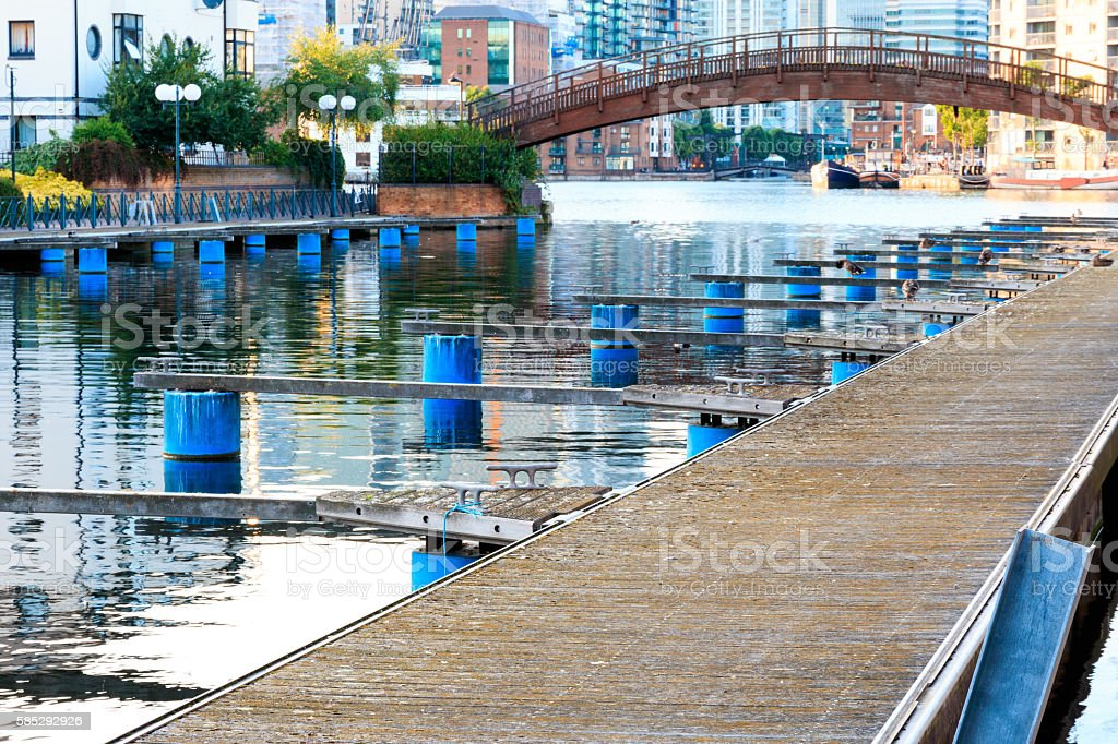 Clippers Quay, Isle of Dogs, London stock photo