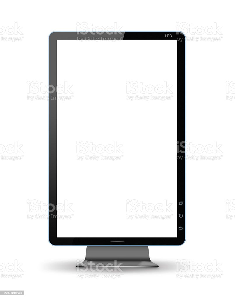 [Clipping path] Computer monitor isolated on white background stock photo