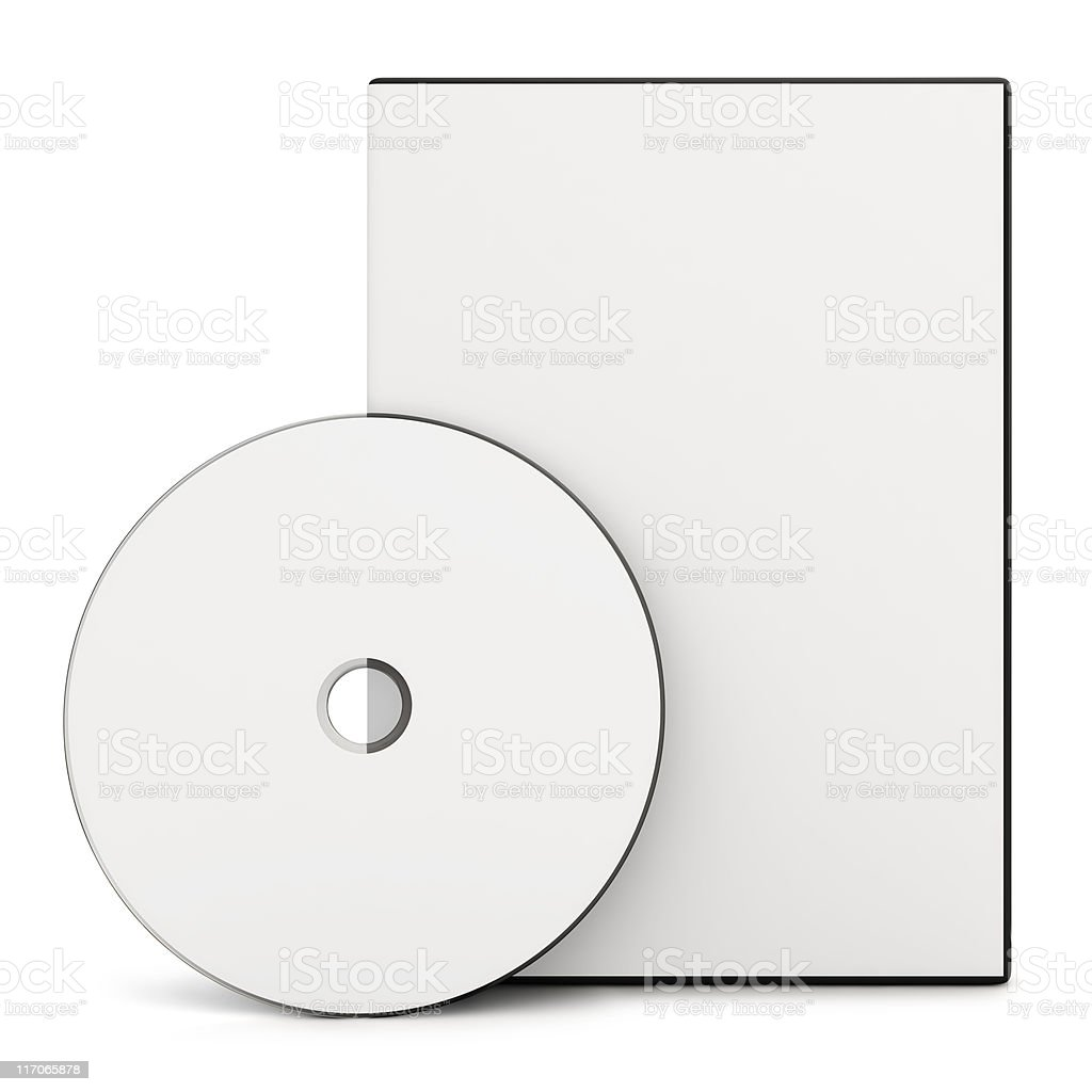 DVD - Clipping Path stock photo