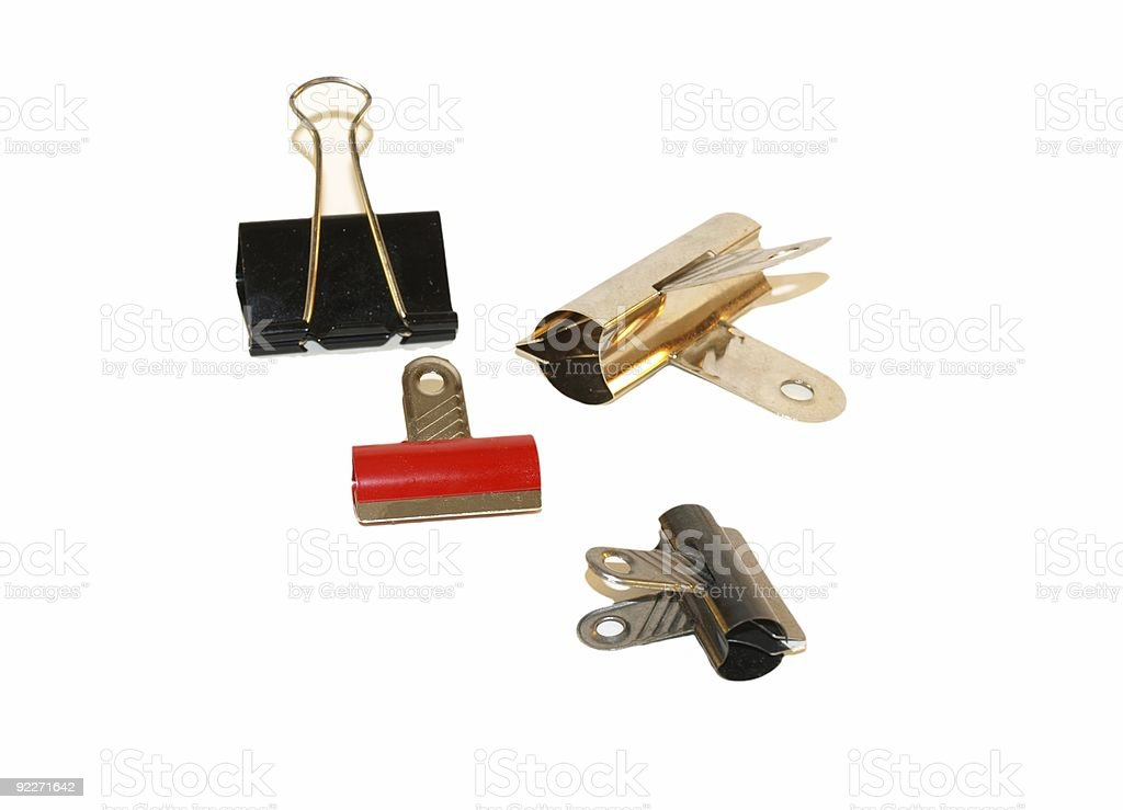 Clips and clamps stock photo