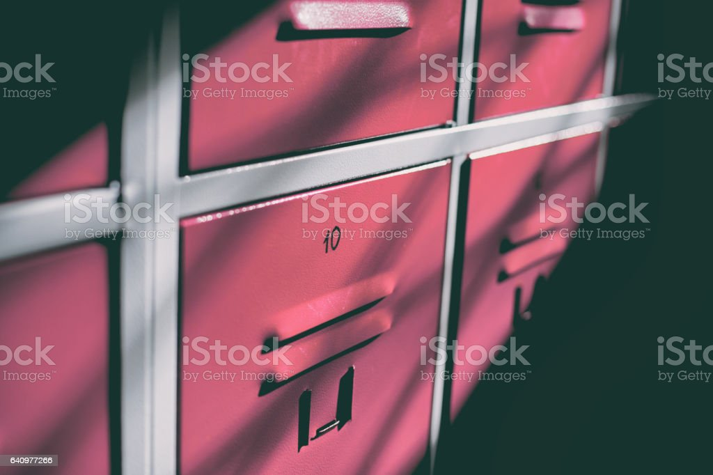 Cloakroom Cabinet stock photo