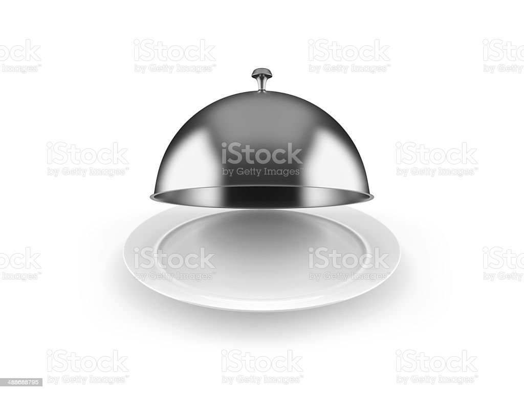 Cloche on plate stock photo