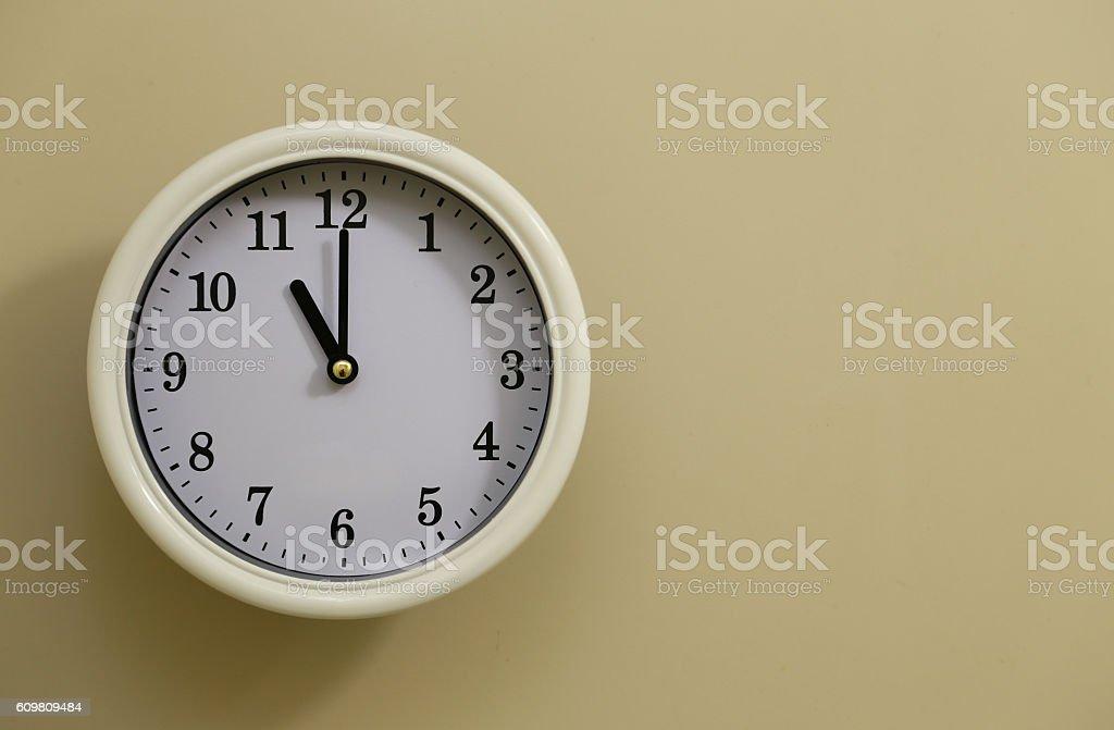 Clock 11:00 foto de stock libre de derechos