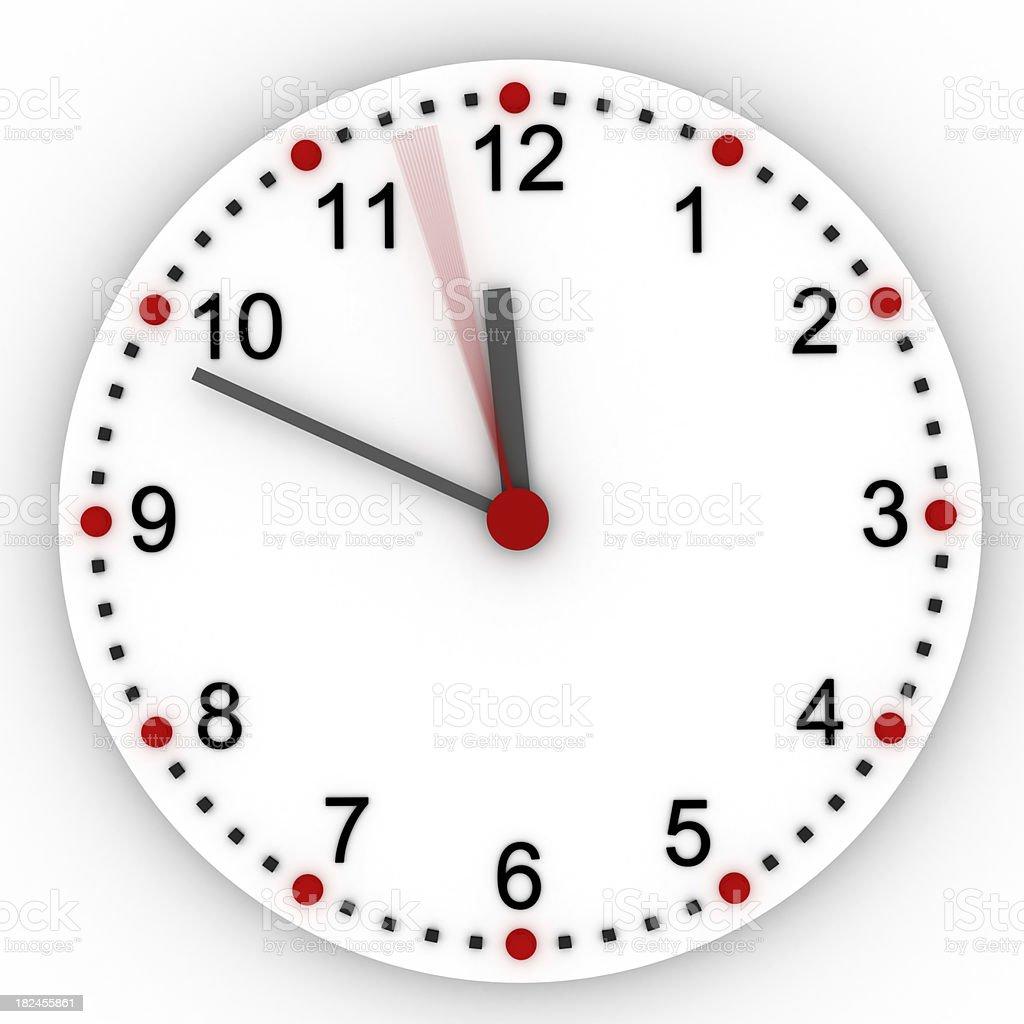 Clock 12 O'Clock stock photo