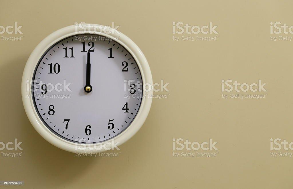 Clock 12:00 foto de stock libre de derechos