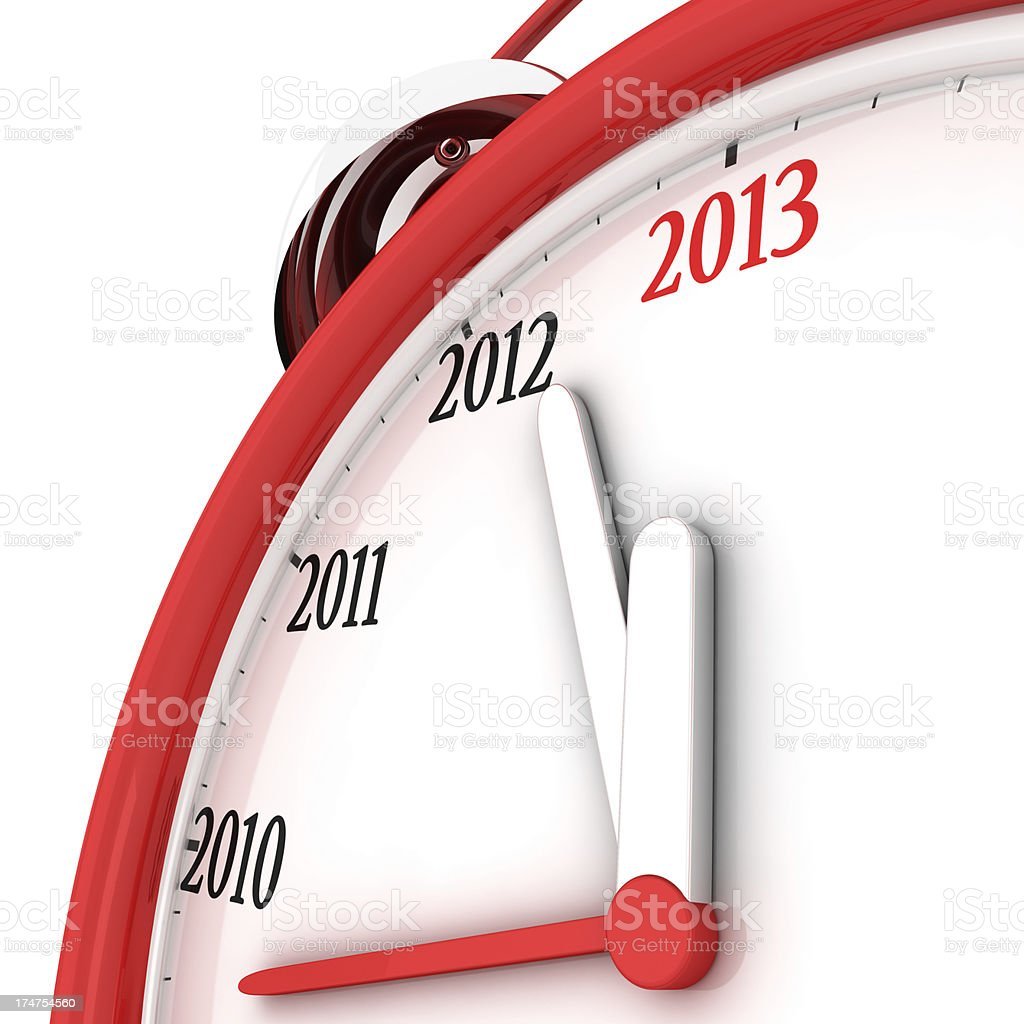 Clock 2013 royalty-free stock photo