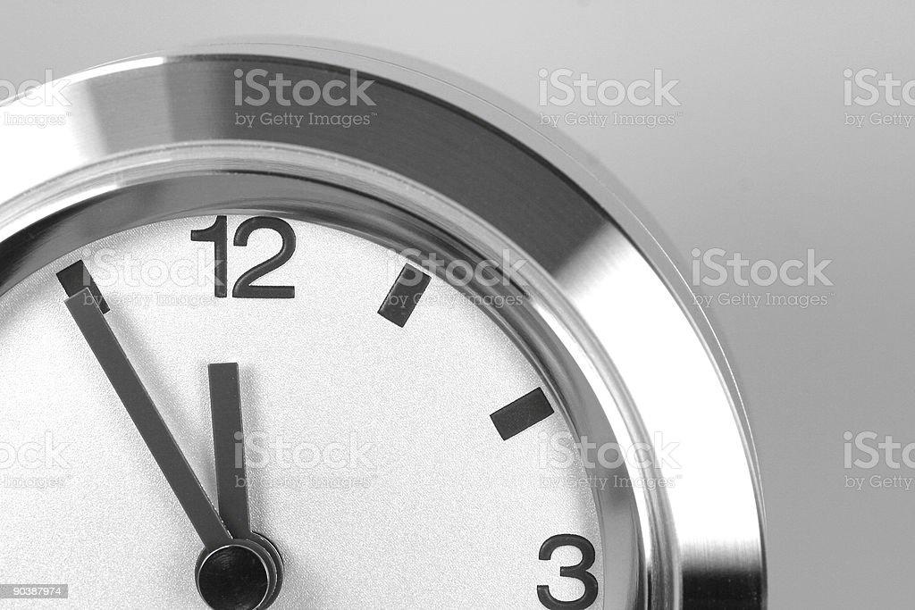 Clock - 5 to 12 royalty-free stock photo