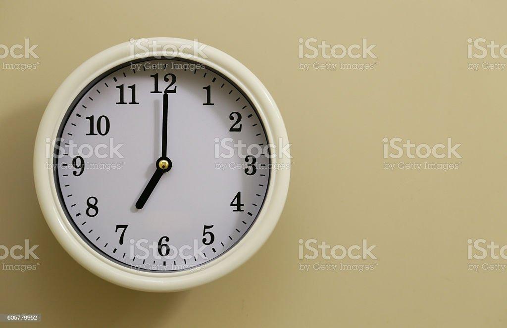 Clock 7:00 foto de stock libre de derechos