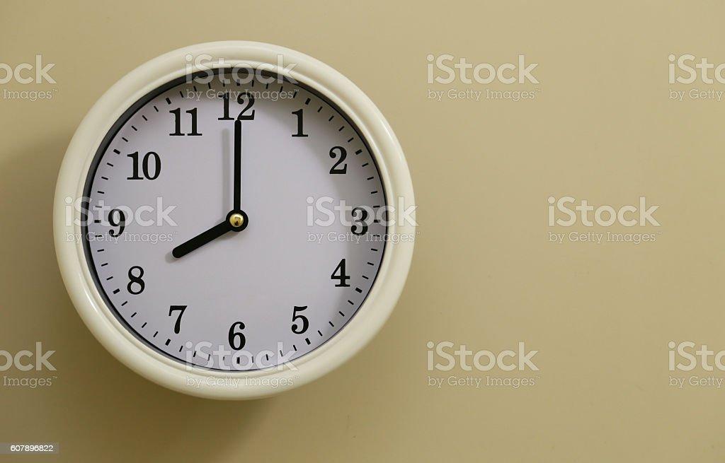Clock 8:00 foto de stock libre de derechos