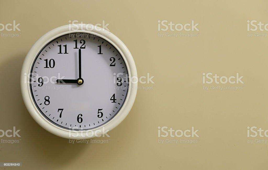 Clock 9:00 stock photo