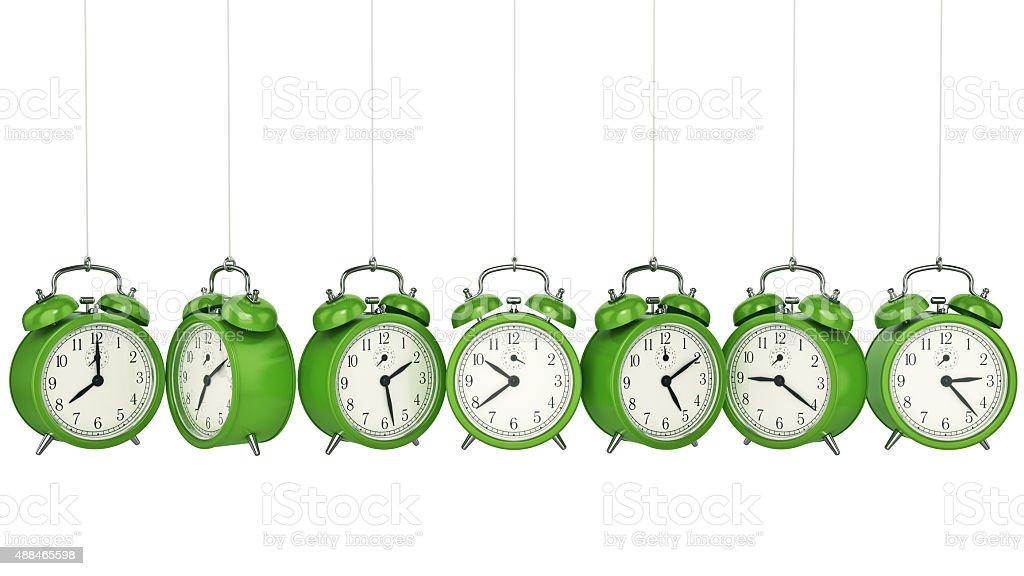 Clock alarm 3D. Time concept. stock photo