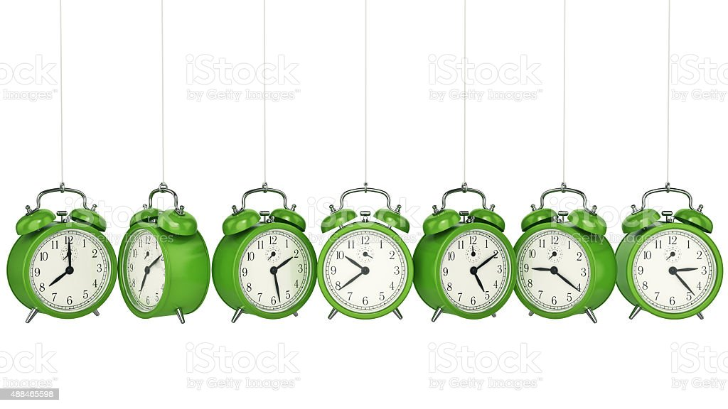 Clock alarm 3D. Time concept. stock photo