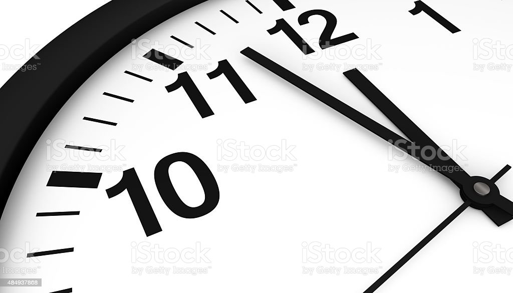 Clock Almost Midnight stock photo