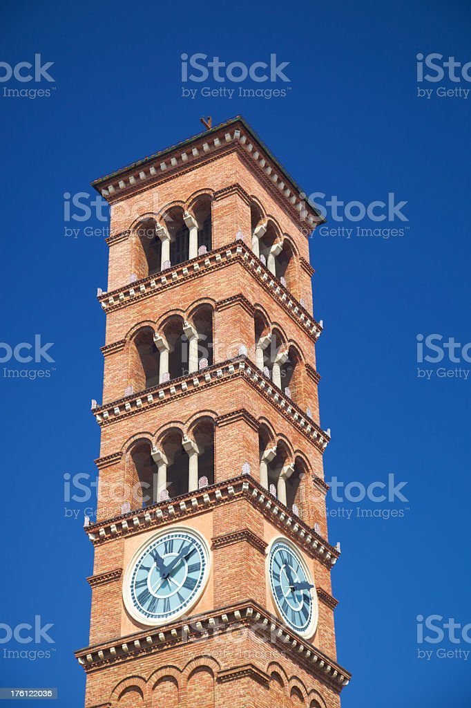 Clock and Bell Tower royalty-free stock photo