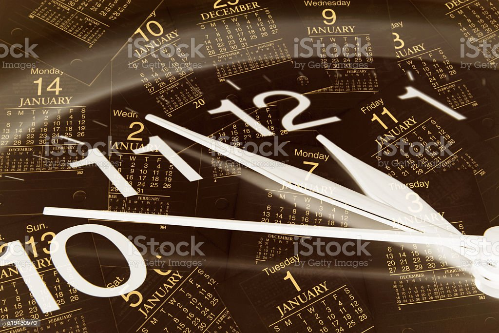 Clock and Calendar Pages stock photo