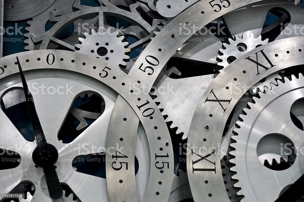 clock and gears stock photo