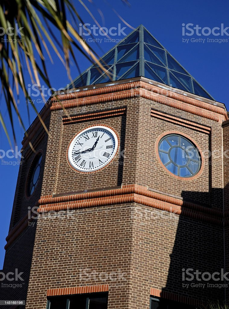 Clock and Glass Roof royalty-free stock photo