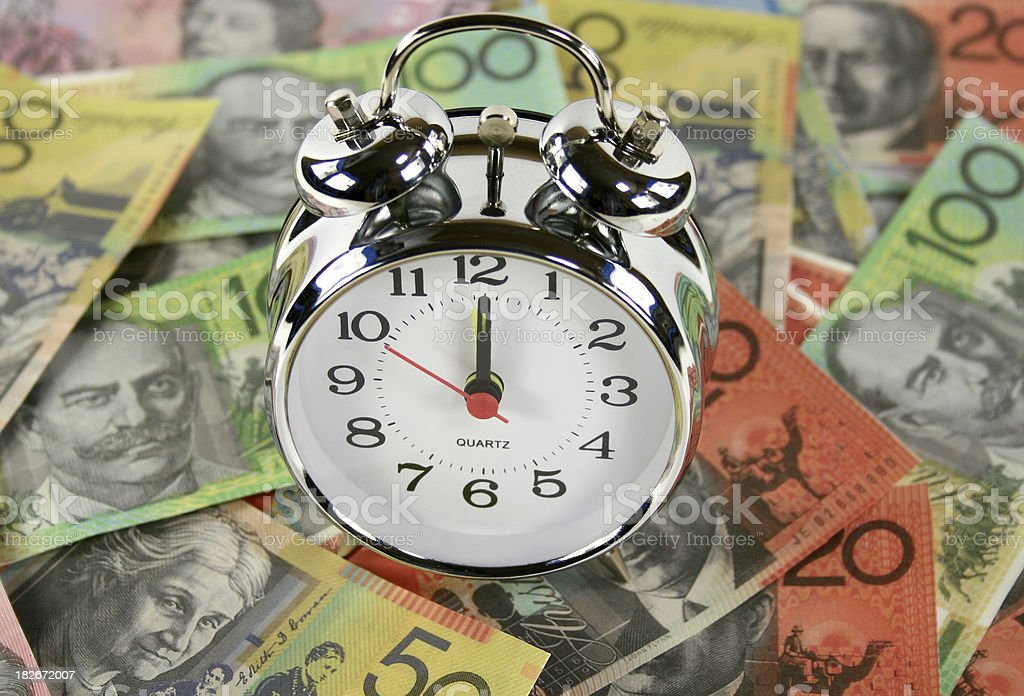 clock and money business concept royalty-free stock photo