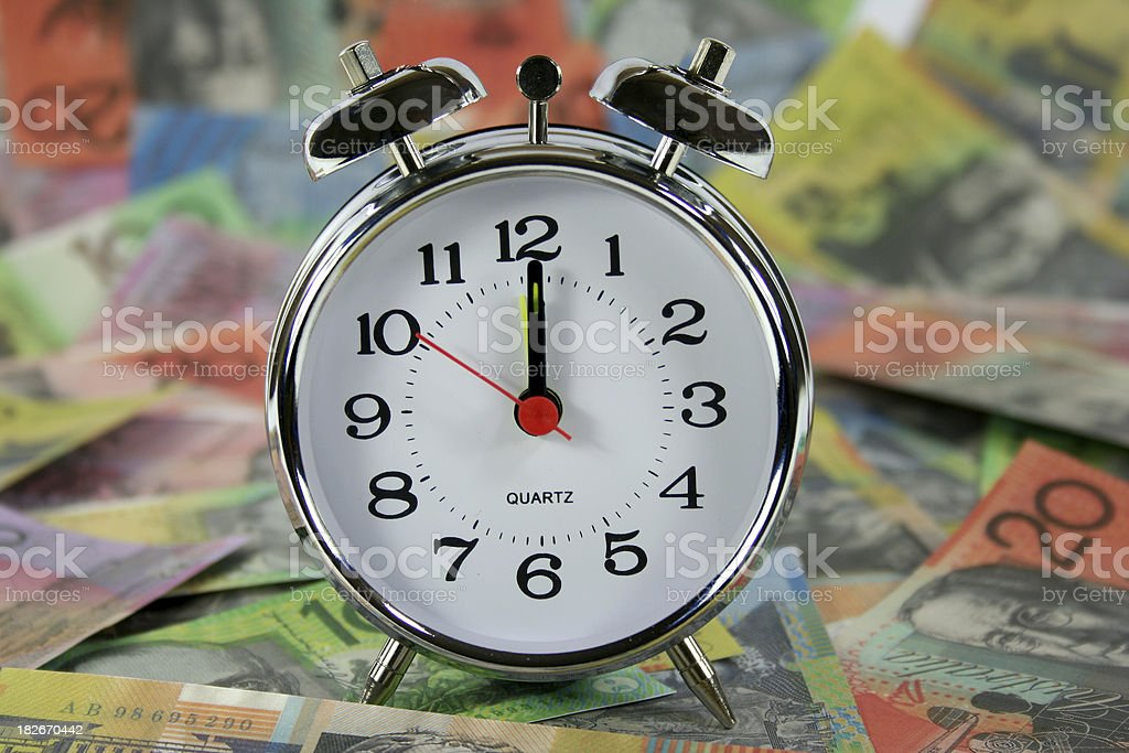 clock and money royalty-free stock photo
