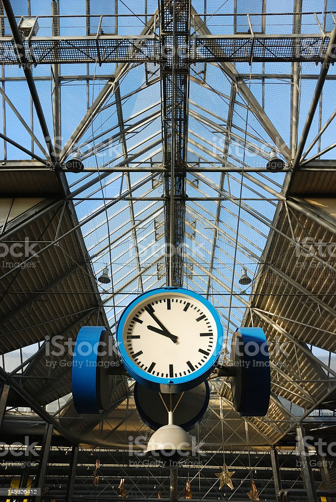 clock and roof royalty-free stock photo