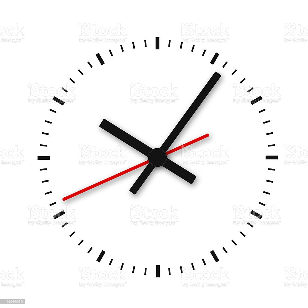 Clock and timestamp without numbers. stock photo