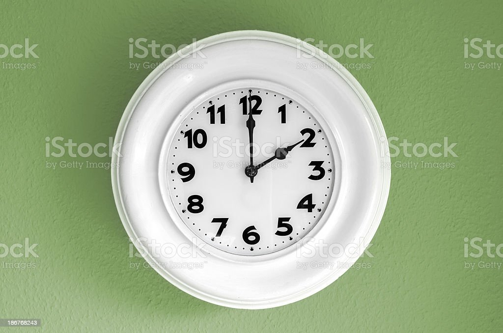 Clock at 2 o'clock royalty-free stock photo