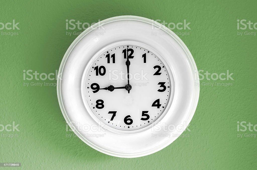 clock at 9 o'clock stock photo