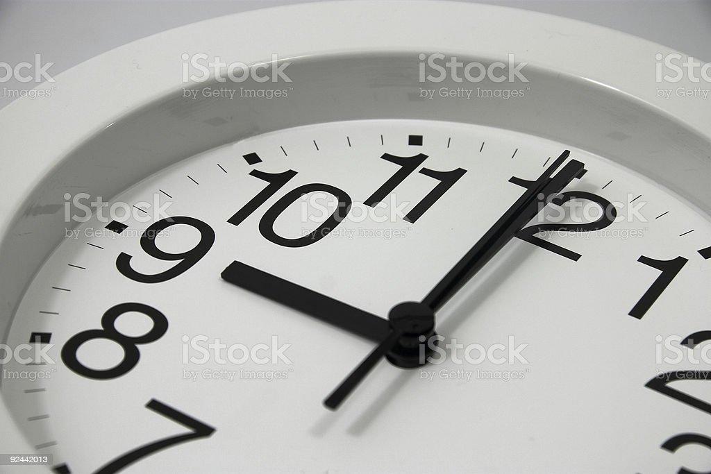 Clock at 9am stock photo