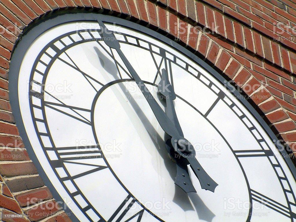 Clock at Noon stock photo