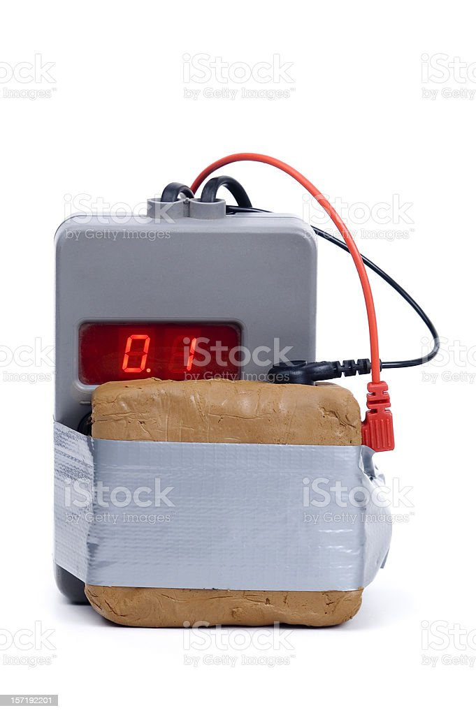 Clock Bomb (c4) stock photo
