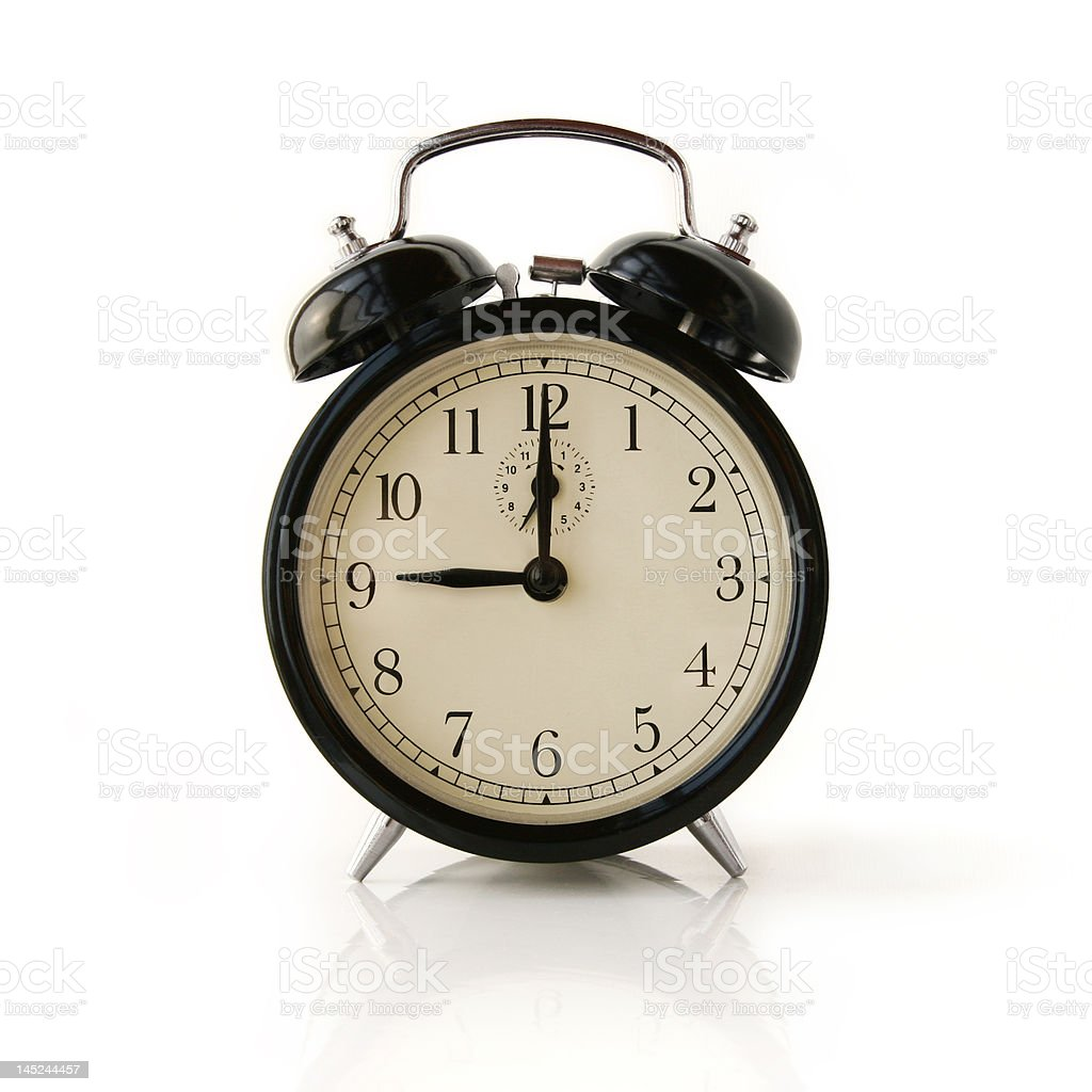 clock circle - 9 o`clock royalty-free stock photo
