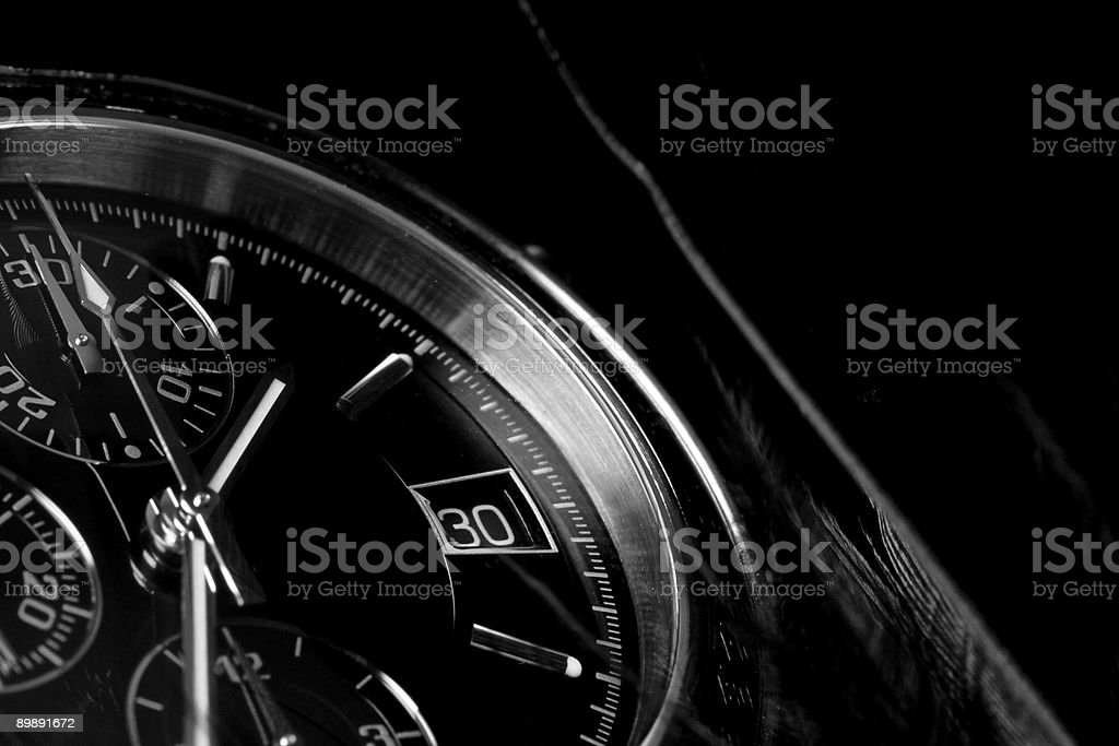 Clock close-up. stock photo